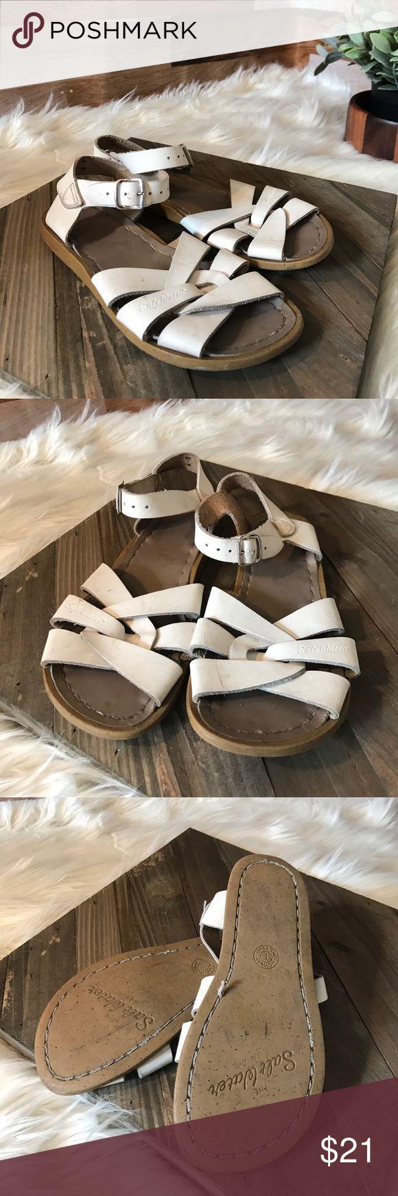 Girls white Salt Water Sandals Girls white Salt Water Sandals, used condition. Salt Water Sandals by Hoy Shoes Sandals & Flip Flops