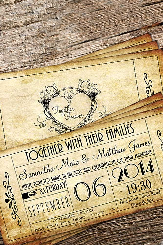 18 Vintage Wedding Invitations For Your Perfect Big Day ❤ See more: http://www.weddingforward.com/vintage-wedding-invitations/ #wedding #invitations
