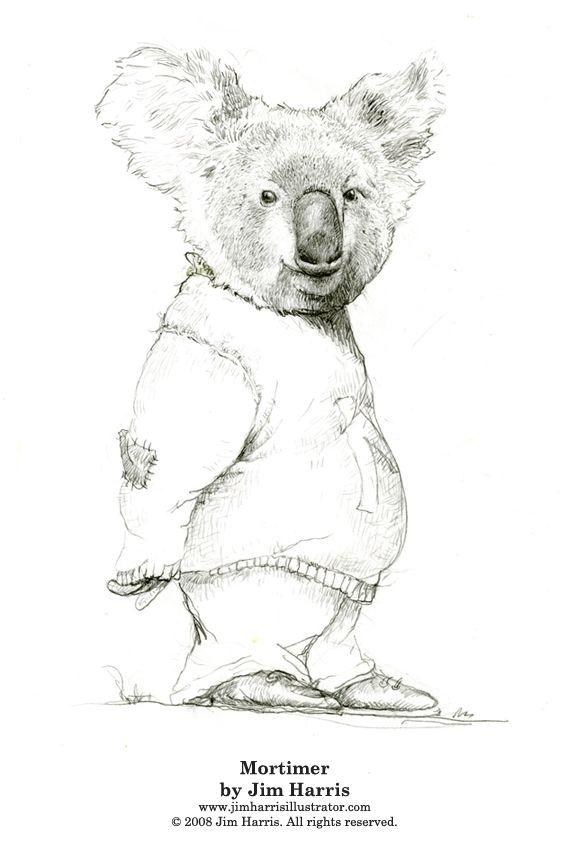 koala bear coloring pages  mortimer the koala bear