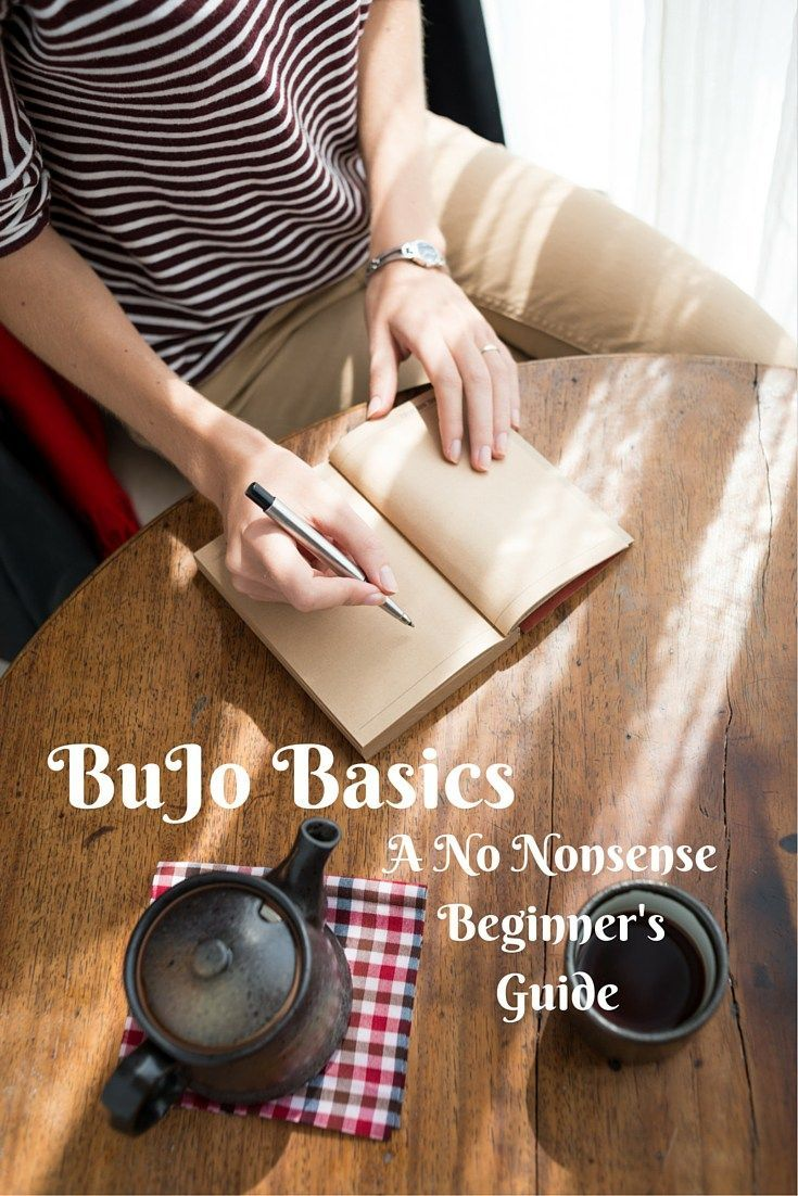 No Nonsense BuJo: What you Need To Begin Tools Tips Tricks Basic bullet journal