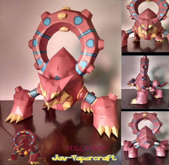 This pokemon papercraft is the Volcanion, a dual-type Fire/Water Mythical Pokémonintroduced in Generation VI, based on the anime / game Pokemon, the paper