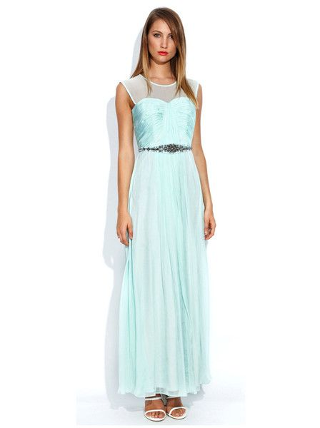 Truese - Romance Dress - Mint - Silk - Tulle - Bridesmaid - Wedding - Formal - Graduation
