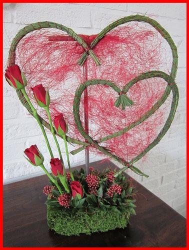 Valentijn met hartjes van brem. Sisal idea