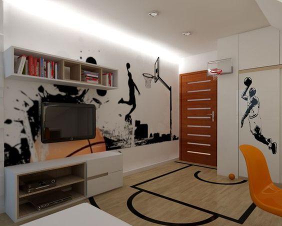 die besten 25 basketball themenzimmer ideen auf pinterest. Black Bedroom Furniture Sets. Home Design Ideas