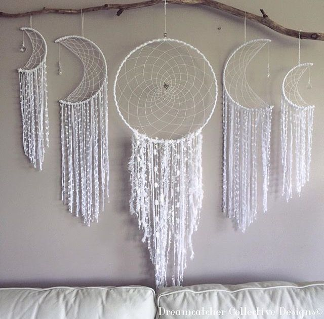 Handmade Dream Catchers above Bed
