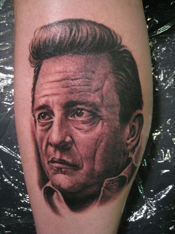 Johnny Cash portrait by Bob Tyrrell