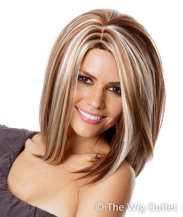 RACHEL - Heat Resistant Blonde Highlighted Long Bob Wig ...