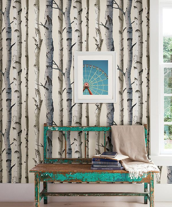 Look at this Irvin Birch Tree Wallpaper on #zulily today!