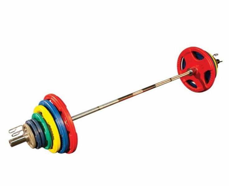 New! Body Solid ORC500S 500 lb. Rubber Grip Olympic Weight Set Free Ship -  I would use these as free weights to help build muscle in my back.