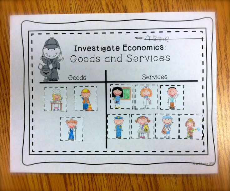 FREE:  Economics; Goods and Services Picture Sort  schoolisahappyplace.blogspot.com