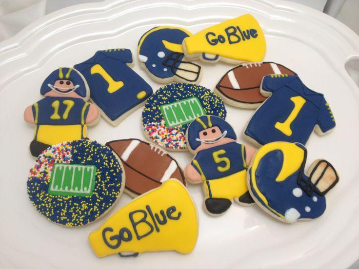 university of michigan sugar cookies   University of Michigan; Go Blue!; Decorated Sugar Cookies www ...