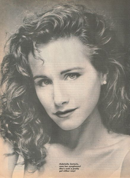 Gabrielle Carteris Pinup Without Her Glasses Pretty