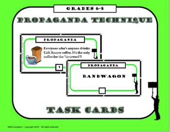Worksheets Propaganda Techniques Worksheet Answers peste 1000 de idei despre propaganda techniques pe pinterest this is a set of task cards to help students identify bandwagon
