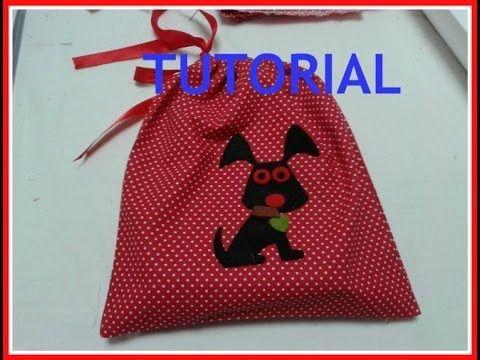 Cucito creativo:sacca asilo tutorial-Cucire sacchetto con laccetti-Back to school-Drawstring bag - YouTube