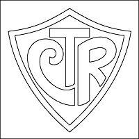 Resultado de imagem para escudo do CTR para pintar