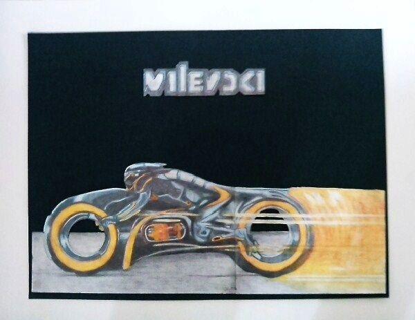 Tron Legacy - 40 x 50 cm - pencil - 2012
