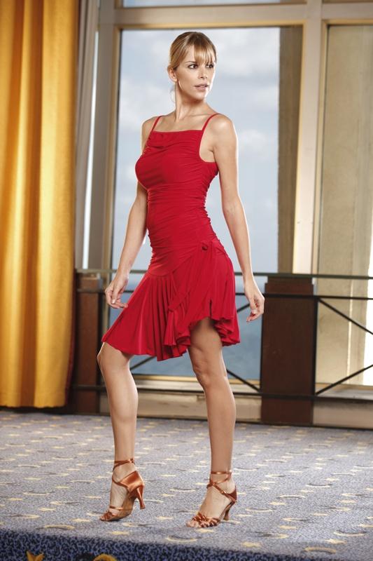 Ballroom Dancing Ruched Spaghetti Strap Top :: Ballroom Dancing Shoe :: Ladies Apparel :: Tops