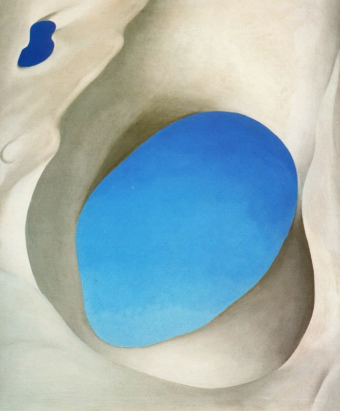 Georgia O'Keeffe This looks like an abstract at first sight but is called 'Pelvis III'  I would title it Spirit.