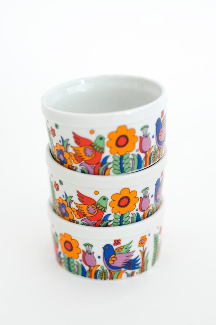 Retro Porcelain Baking Cups Products I Love Pinterest