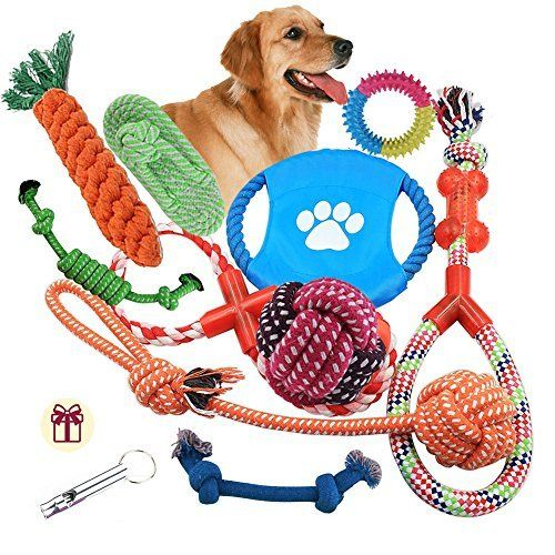 Dog Rope Toys 10 Pack Set Pet Puppy Teething Chew Puppy Teething
