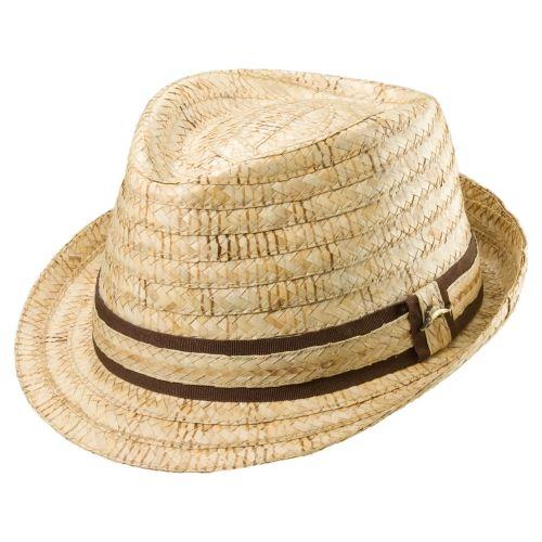 Mocha Madness Tommy Bahama TBW141OS Natural Buri Braid Burned Raffia Straw Fedor…  – Summer Hats