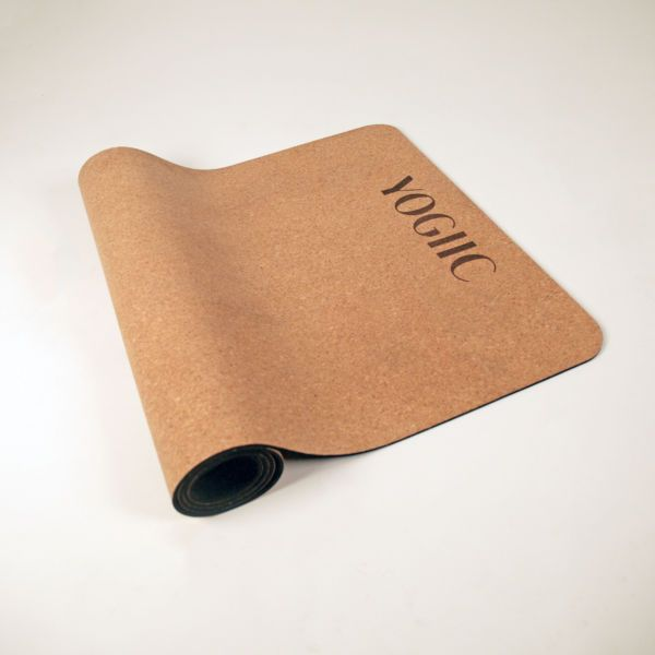 CORK RUBBER YOGA MAT | Yogiic Cork Rubber Yoga Mat - Natural cork + natural…