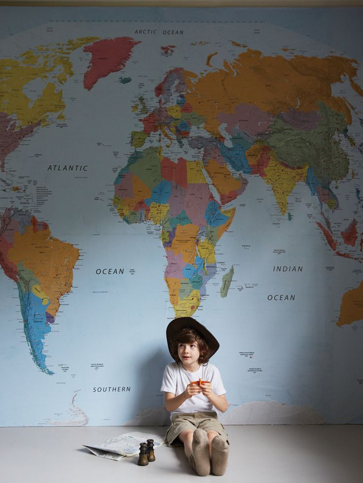World Map Wall Mural - got to have this for my sons room :)