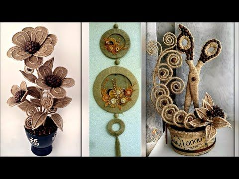 Jute Craft Decoration Design Collection Diy Room Decor Idea 2018