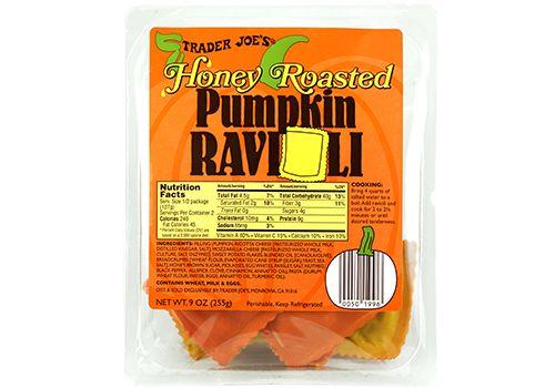 Trader Joe's | Honey Roasted Pumpkin Ravioli | 9 oz. $3.49 #traderjoes #honey #pumpkin #ravioli