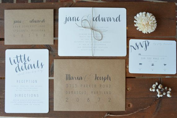 Hey, I found this really awesome Etsy listing at https://www.etsy.com/listing/218375904/rustic-chic-wedding-invitations-plain