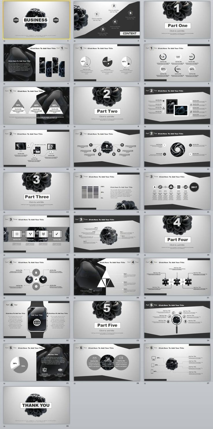 28+ Best gray business report PowerPoint template