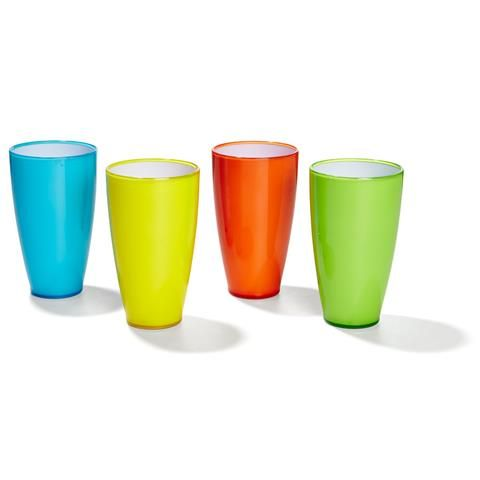 Coloured Plastic Tumblers - Set Of 4 | Kmart