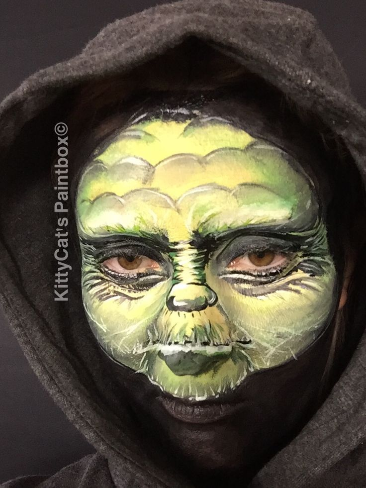 Master Yoda Transformation, Master Yoda Facepainting; to find on Youtube: https://youtu.be/vlppjRE5f4Q