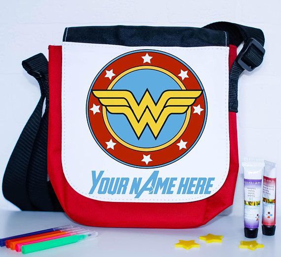 Wonder Woman school packed lunch bag  personalised lunch bag