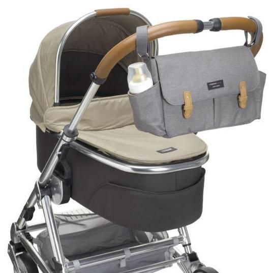 Universal Pram or Stroller Organiser from Storksak in Grey. The best organiser there is! It is almost like a whole baby bag!