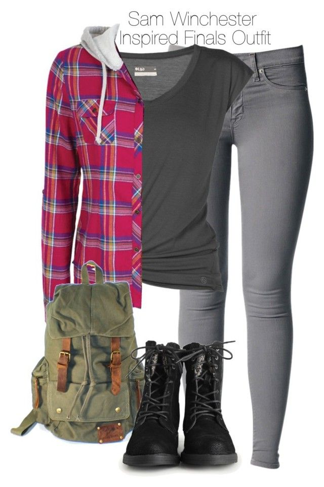 Supernatural - Sam Winchester Inspired Finals Outfit by staystronng on Polyvore featuring polyvore fashion style Lija Nico samwinchester spn