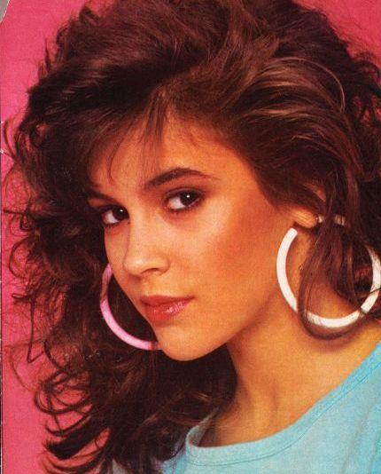 Alyssa Milano in the 80's | Love the 80's ❤