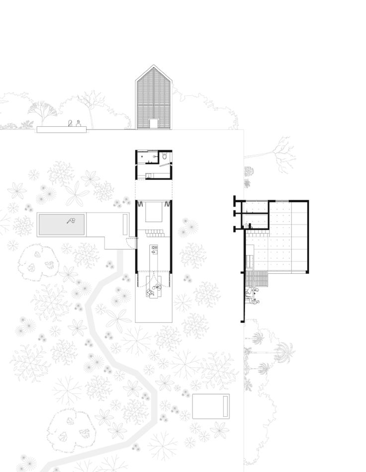 Casa Tiny Oaxaca Architect Aranza De Arino Schematic Drawings