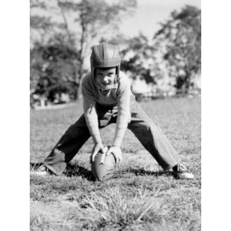 Posterazzi Portrait of a boy playing football Canvas Art - (24 x 36)
