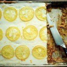 Candied Lemon Sheet Cake - VeggieFocus http://veggiefocus.com