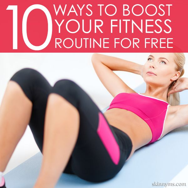 There are two things that will probably always be true: exercise is an essential component to maintaining a healthy body, and gym memberships are often expensive.  These 10 Ways to Boost Your Fitness Routine for Free come in handy!  #fitness #routine #free
