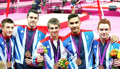 Team GB Medals 2012  03. Men's Gymnastics Team (Louis Smith, Max Whitlock, Daniel Purvis, Sam Oldham and Kristian Thomas)- BRONZE  (Gymnastics, Artistic: Men's Team)