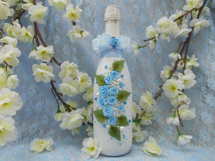 Голубые розы-к счастью и удаче.Handiwork. Design studio Soprun Vladislava.