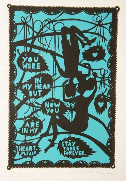 """""""You were in my head but now you are in my heart. Please stay there forever."""" by Robert Ryan."""