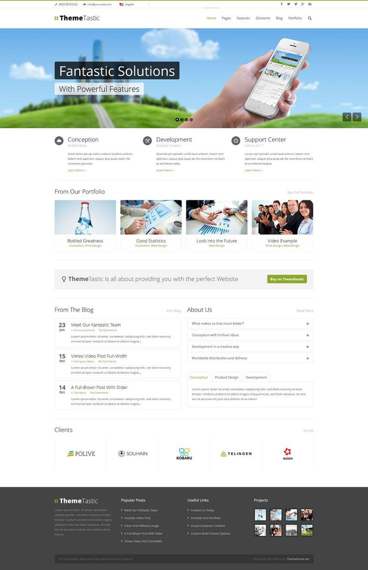 ThemeTastic is a modern, flat, business WordPress Theme with a wide range of possible uses and lots of customization options.