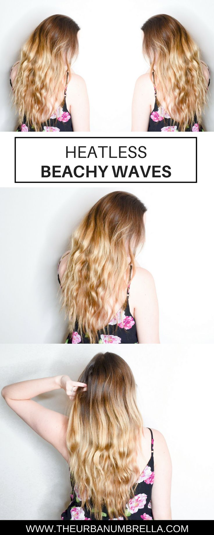 how to get beachy waves without heat youtube