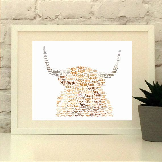 Highland Cow Personalised Print Cow art Custom Print Wall