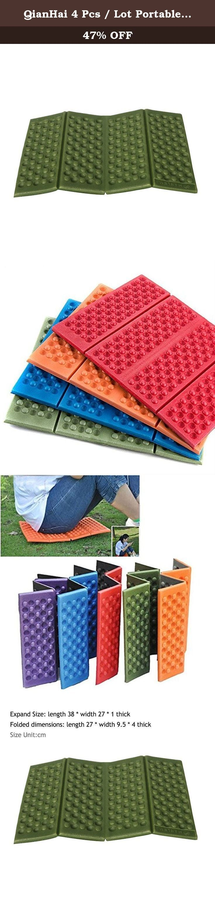 QianHai 4 Pcs / Lot Portable Folding Foam Waterproof Cushion Seat Pads for outdoor camping and Picnic Chair Mat Pad(green). Description 1.The design of mobile is not only comfortable to sit as well as massage and ventilation effect.. 2.expanding Size: 38 cm (L) * 27cm (W) * 1 cm (thickness). 3.Folded dimensions: 27cm (L) * 9.5 cm (W) * 4 cm (thick). 4.Material: XPE. 5.Net Weight: 35g. 6.all pads are independent with a plastic packaging. 7.Color: green. 8.Package include: 1* foldable foam…