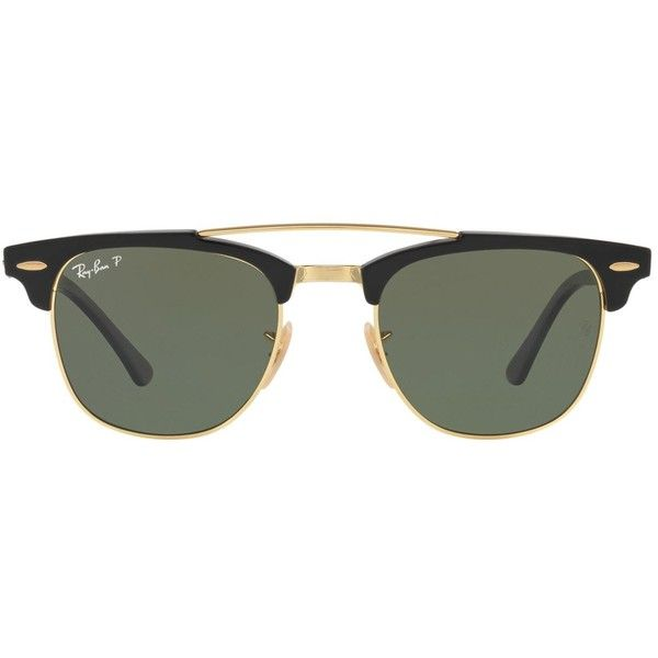 915fc73c4d4 Ray-Ban Clubmaster Sunglasses (825 PEN) ❤ liked on Polyvore featuring  accessories