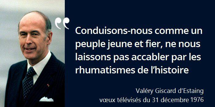 En 1975 il supprime la commémoration du 8 mai #histoire de #France en #citations